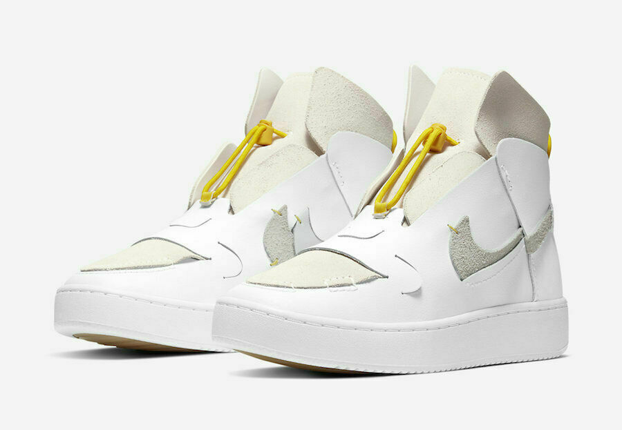 Neuf Nike Vandalised LX 'Chrome Jaune' BQ3610-100 Femmes Sz 5 DS Décomposé