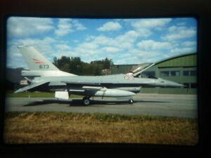 military aircraft slide Norwegian F-16 673 2008 (WX4H)