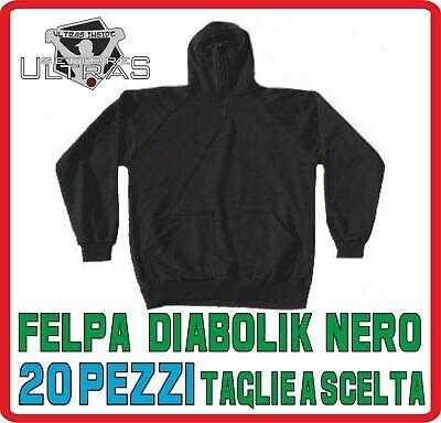 Abbigliamento sportivo felpa DIABOLIK nero ULTRAS stadio HOOLIGANS cappuccio