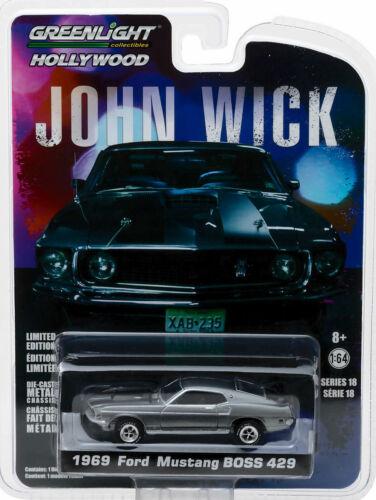 1969 Ford Mustang BOSS 429 John Wick 1:64 GreenLight 44780