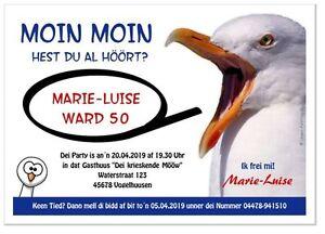 Details Zu Lustige Geburtstagseinladung Plattdeutsch Originell Witzig Tier Text Möwe 50 60