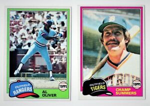1981 Topps Baseball Cards 20 Card Lot