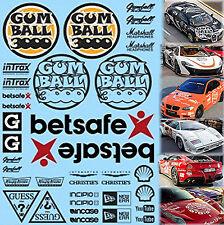 Air Force Gumball 3000 Rallye Street Racing 1:43 Decal Abziehbil Sharkmouth U.S