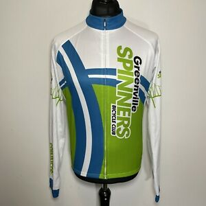 PRIMAL Greenville Spinners Bicycle Club Cycling Long Sleeve Jersey Shirt L