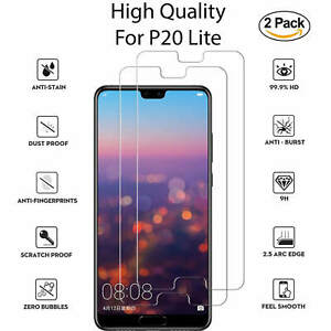 New-For-Huawei-P20-Lite-Tempered-Glass-Screen-Protector-Full-Protection-2-Pack