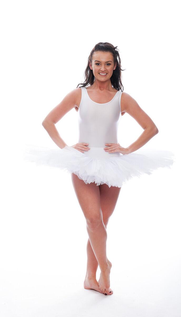 Girls Ladies Coral Dance Ballet Practise Pancake Plateau Tutu Skirt By Katz