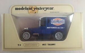 matchbox models of yesteryear Y-5 1927 talbot ever ready