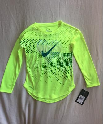 Nike Girls 6//6X Volt Green Dri-Fit Athletic Workout Exercise Capri Leggings