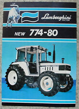 LAMBORGHINI 774-80 Tractor Sales Specification Leaflet May 1986 #COD 308 2173 32