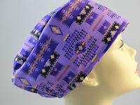 Womens Surgical_scrub Hat_tucson Purple_southwest_new_gorgeous_cotton
