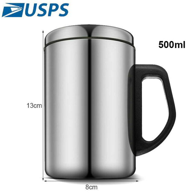 Kitchen Tea Cup Tumbler Travel Coffee Mug Portable Double Wall Stainless Steel
