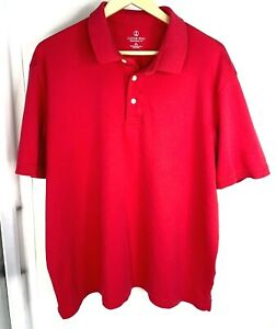 46-48 MEN/'S LANDS/' END XL NWT SHORT SLEEVE SUPIMA  BANDED POLO TRADITIONAL FIT