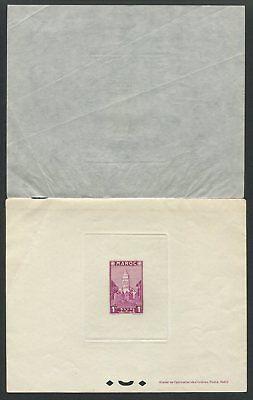 Maroc Epreuve De Luxe 1939 Mosque Mosquee Luxusblock Deluxe Sheet Rare!! Z1907