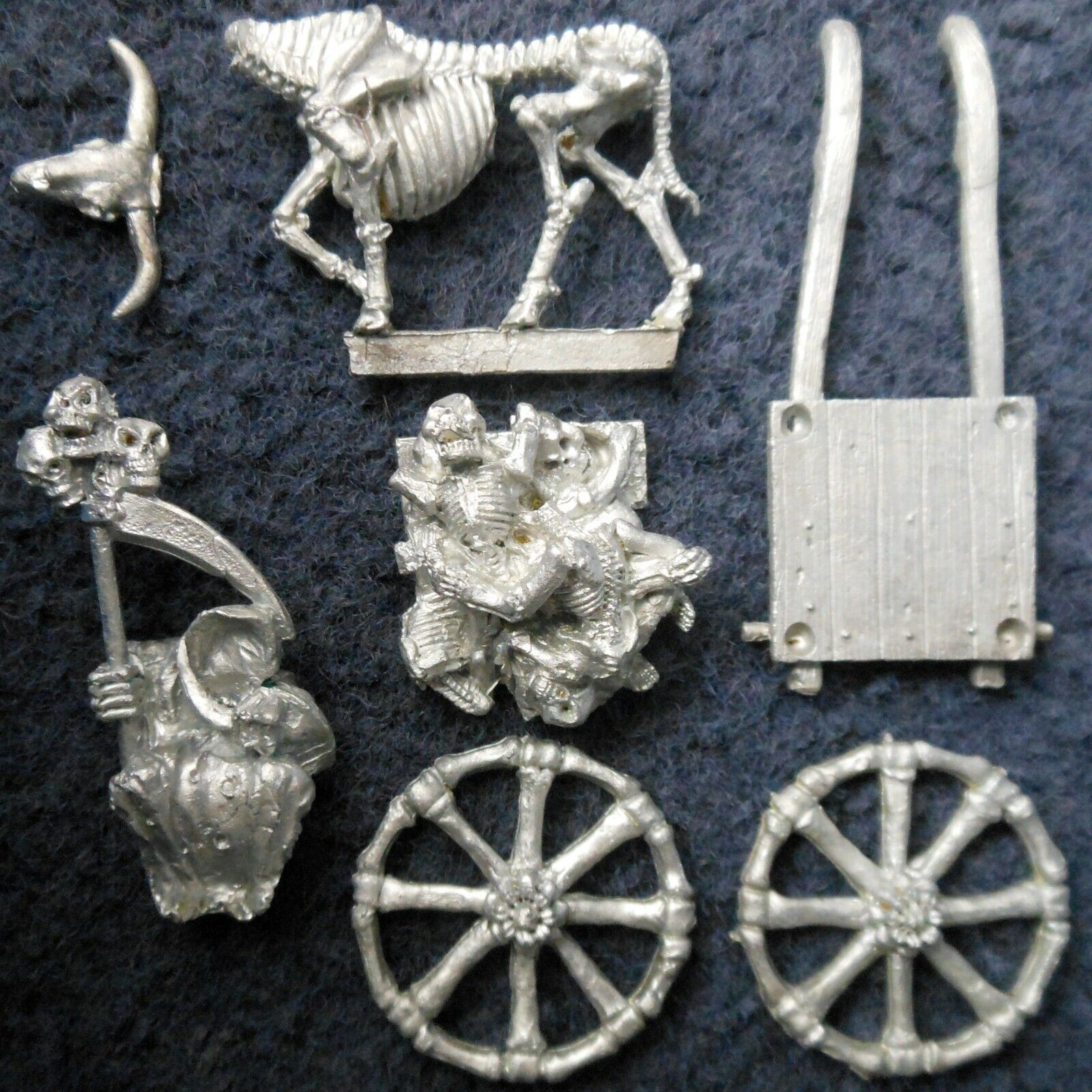 1987 Undead C22 Plague Cart Skeleton Citadel Warhammer Wraith Nurgle Chariot GW