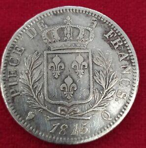 Francia-5-Francos-Plata-Luis-XVIII-1815-Q-PERPIGNAN