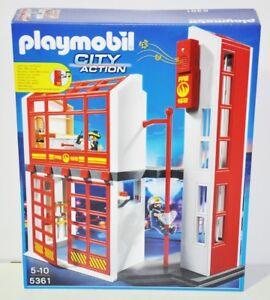 Playmobil 5361 Feuerwehrstation Mit Alarm Zubehör Ebay