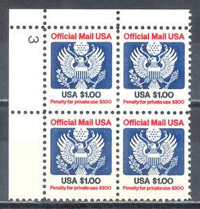US-Stamp-L216-Scott-O132-Mint-NH-OG-Nice-Plate-Block-Official