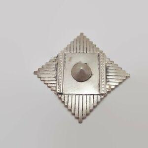 Vintage-Kate-Hines-Silver-Tone-Modernist-Pin-Brooch