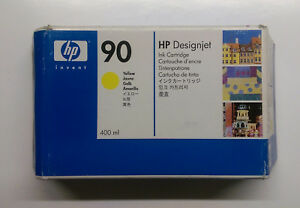 HP-original-90-gelb-yellow-C5065A-DesignJet-4000-4500-Serie-OVP-06-2015