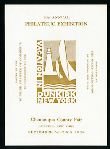 US-1938-Chautauqua-Fair-Dunkirk-New-York-Philatelic-Exhibition-Stamp-Label