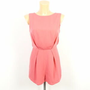TOPSHOP-Jumpsuit-Overall-Koralle-Pink-Gr-34-XS