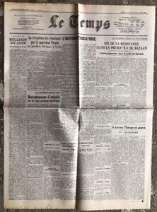 N14-La-Une-Du-Journal-Le-Temps-11-Et-12-Avril-1942