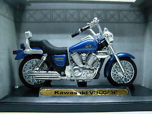 Image Is Loading Kawasaki Vulcan Blue Motormax Motorcycle Model 1 18