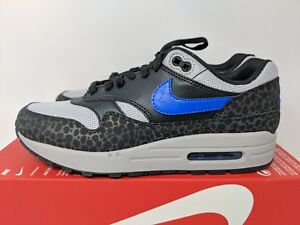 Details about Nike Air Max 1 SE Reflective Safari Blue Grey Reflective Black BQ6521 001 Sz 7.5