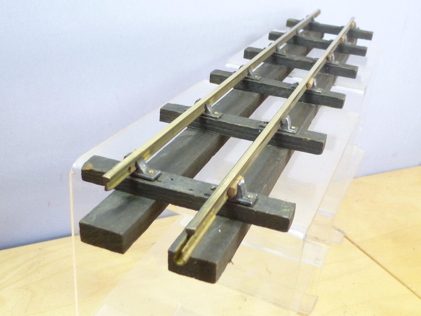 VINTAGE BASSETT LOWKE 1 X  15    BRASS RAIL WITH WOODEN SLEEPERS STRAIGHT