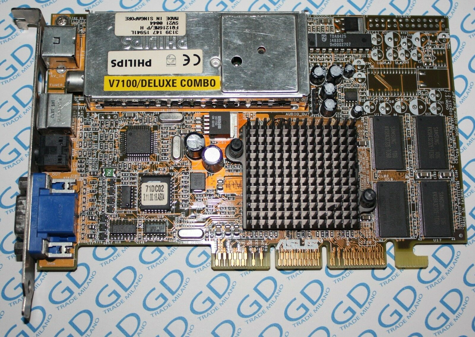 ASUS v7100 Deluxe Combo Philips DC 32m P I c1v0i1