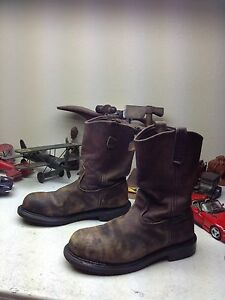 bc3f5e3ace7 Details about RED WING 2231 DISTRESSED USA BROWN LEATHER OIL RIG TOOL  PUSHER BOSS BOOTS 11.5 D