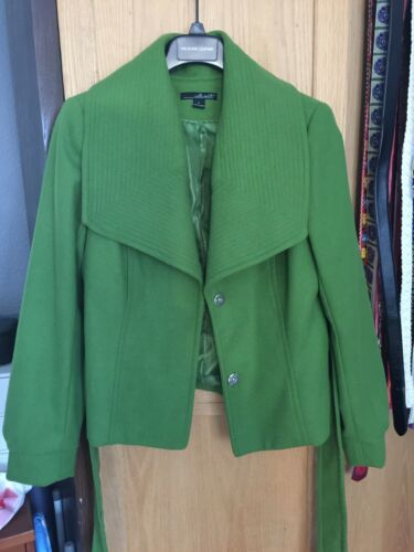 Willi Smith Belted Soft Green Shawl Collar Coat L