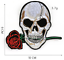 miniature 13 - PIRATE SKULL Embroidered Biker Patches Skeleton Iron / Sew on Badges Grim Reaper