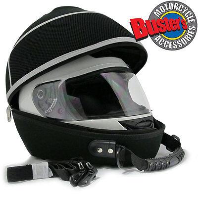 Black Motorcycle Bike Car Karting Crash Helmet Bag Universal Carrier Shell Med
