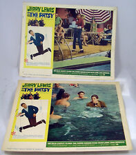 "VINTAGE LOBBY CARDS Jerry Lewis The Patsy 1964 11x14"" original rare"