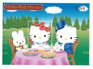 Guyana 2001 - Hello Kitty - Alice In Wonderland -  Stamp Souvenir Sheet - MNH