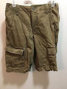 get cheap great look arrives Details about Brown plaid Old Navy Old Navy cargo shorts boys size 16