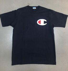 f3a2884c3a23 Men's Vintage Navy Champion Logo Basic T Shirt Sz L 100% Authentic ...