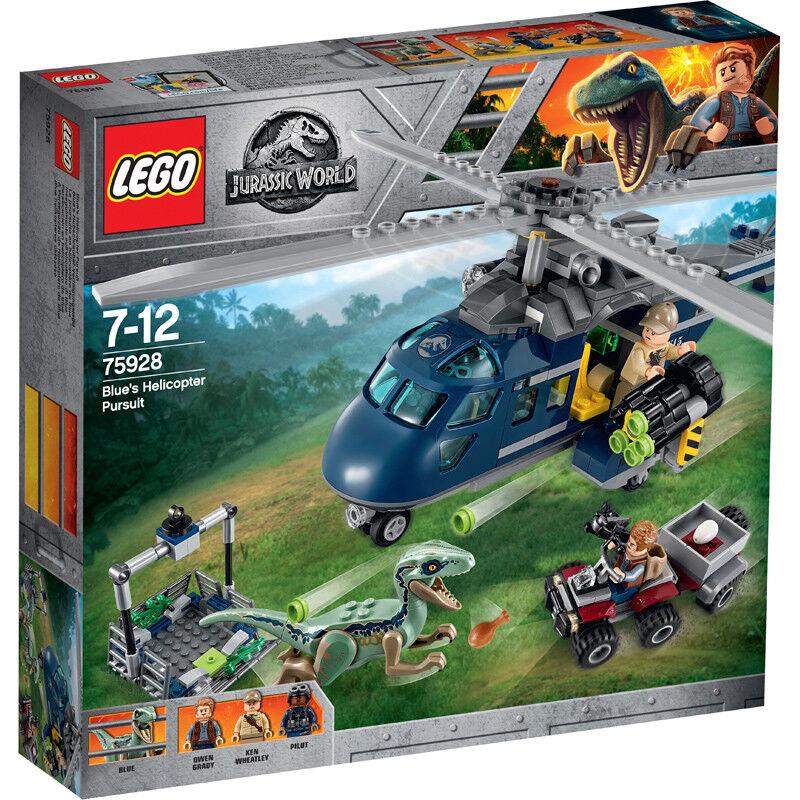 Lego Jurassic World Blau's Helicopter Pursuit 75928 NEW