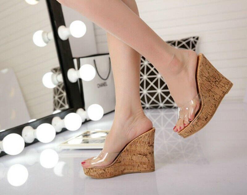 super popular 78f88 54b5a Para mujeres Plataforma Zapatos De Tacos Cuña Super Alta ...