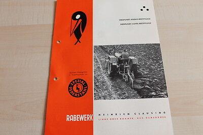 Collection Here 144630 Rabewerk Dreipunkt Beetpflüge Prospekt 03/1962 Selected Material Ebay Motors