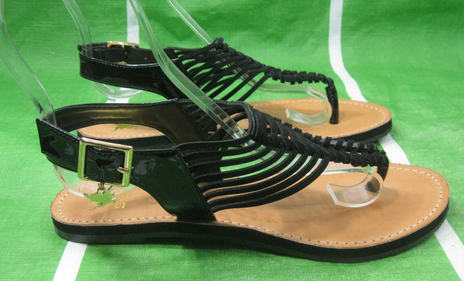 NEW LADIES Summer Black Slingback Size Womens Shoes Sexy Sandals Size Slingback 6 dcb054