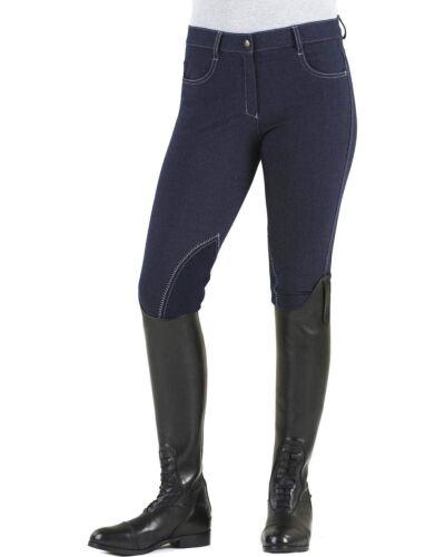 Ovation Ladies EuroKNIT Melange Zip Front Knee Patch Riding Breeches