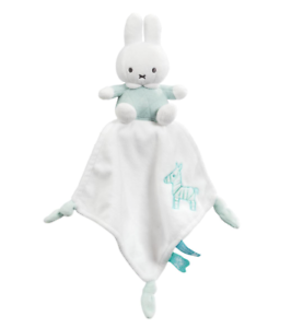 Baby Shower Gift   FAST DISPATCH Miffy Mint Cuddle Comforter CAN PERSONALISE