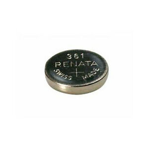 #361 (SR721W) Renata Mercury Free Watch Batteries - Strip of 10