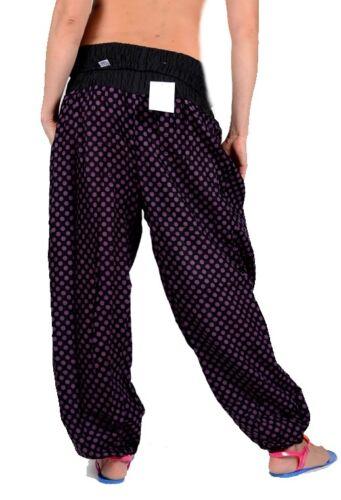 Estate Donna larghezza Yoga HAREMS pantaloni jumpsuit 36 38 40 42 S M L Viola Spiaggia Short