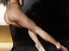 2f26d395f26 Back SEAMED GLOSSY Cecilia de Rafael SEVILLA CHIC Pantyhose SHEER to WAIST  15d