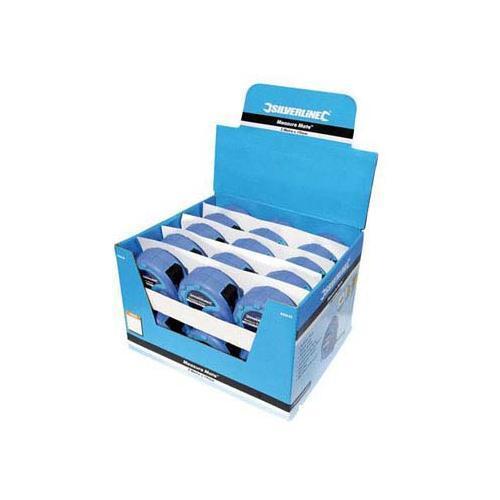Silverline Mesure mate bande affichage Box 30pce 3m x 16mm de Mesure Outil de BRICOLAGE