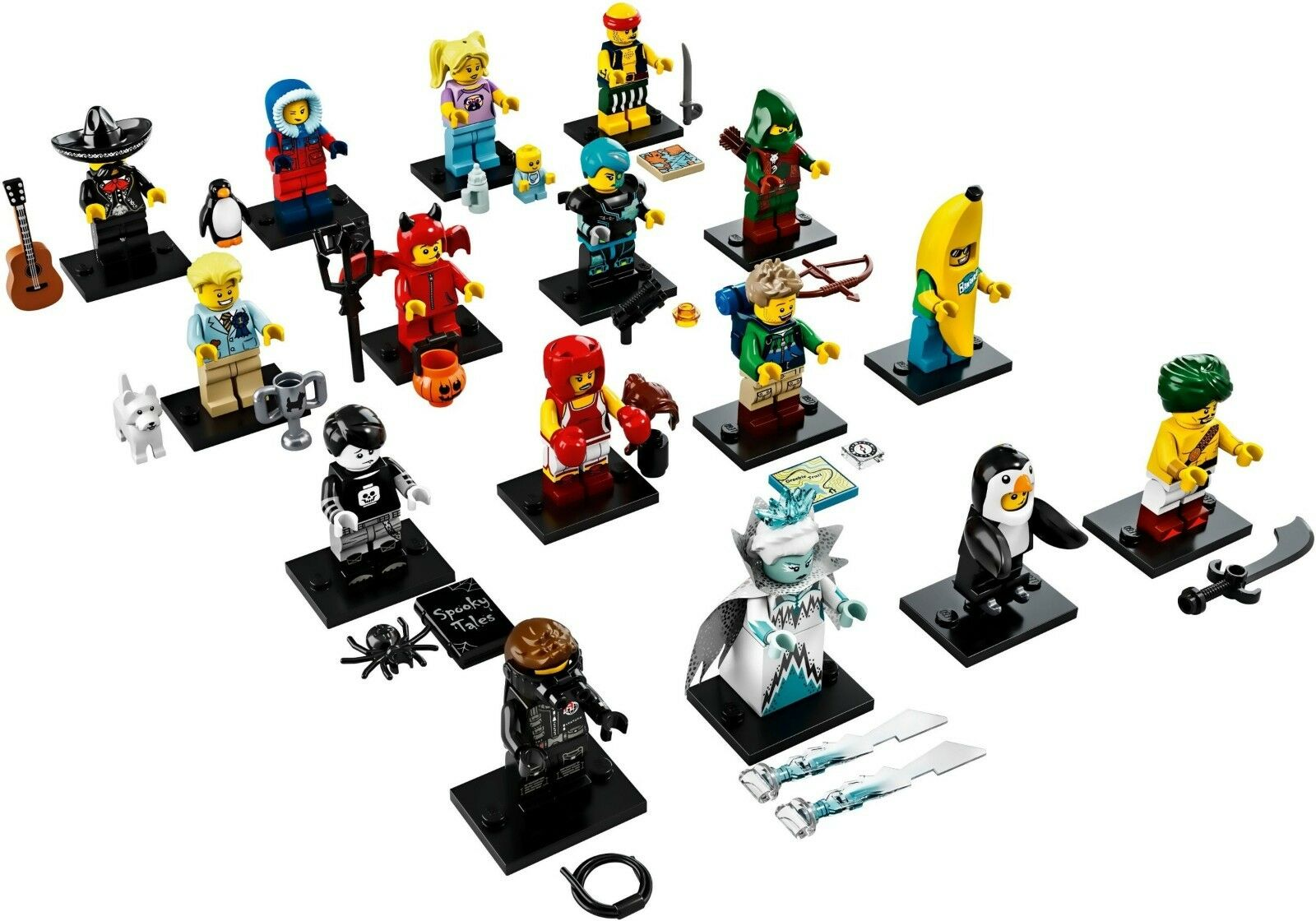 LEGO 71013 MINIFIGURE MINIFIGURE MINIFIGURE SERIES 16, Full Set of 16 minifigures, Complete, Fast ship f82bb5