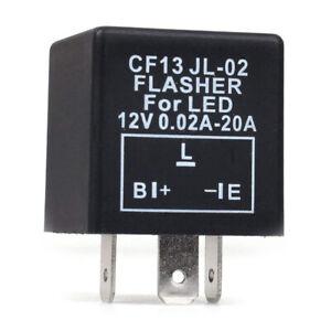 1X-Voiture-3-Broches-Cf-13-Led-electronique-12V-Relais-Clignotant-Correction-8T